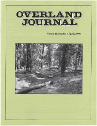 Overland Journal Volume 16 Number 1 Spring 1998
