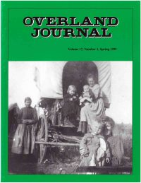 Overland Journal Volume 17 Number 1 Spring 1999