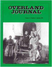 Overland Journal Volume 17 Number 1 Spring 1999
