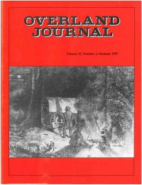 Overland Journal Volume 15 Number 2 Summer 1997