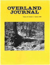 Overland Journal Volume 18 Number 2 Summer 2000