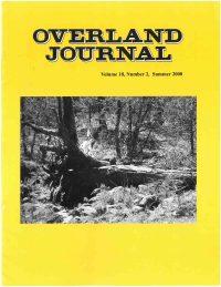 Overland Journal Volume 18 Number 2 Summer 2000