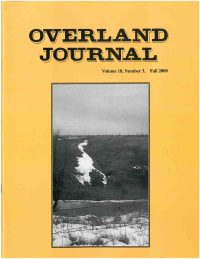 Overland Journal Volume 18 Number 3 Fall 2000