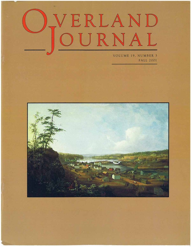 Overland Journal Volume 19 Number 3 Fall 2001