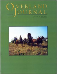 Overland Journal Volume 21 Number 3 Fall 2003