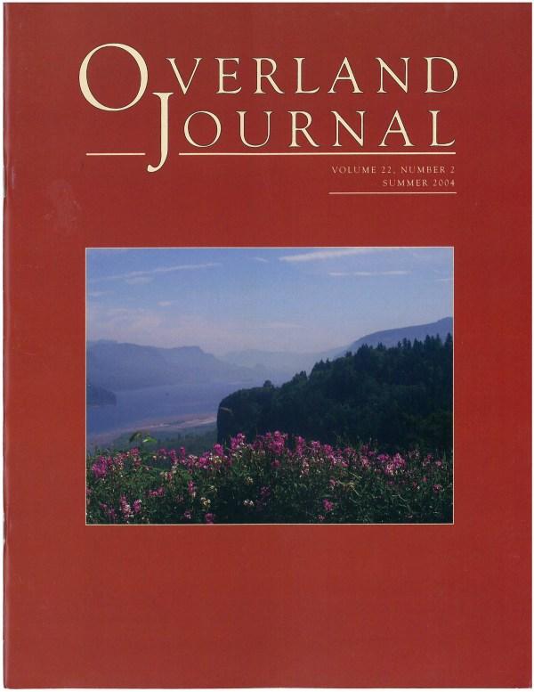 Overland Journal Volume 22 Number 2 Summer 2004