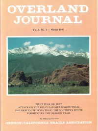 Overland Journal Volume 5 Number 1 Winter 1987