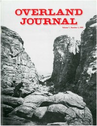 Overland Journal Volume 7 Number 1 1989