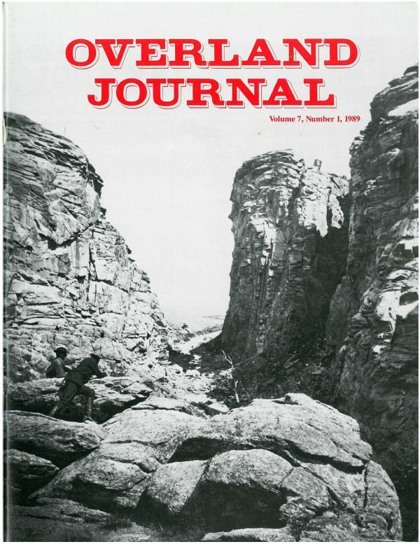 Overland Journal Volume 7 Number 1 1989
