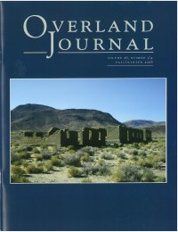 Overland Journal Volume 26 Numbers 3/4 Fall/Winter 2008