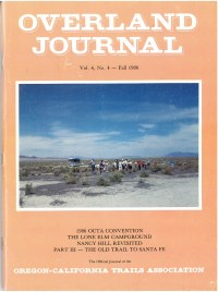 Overland Journal Volume 4 Number 4 Fall 1986