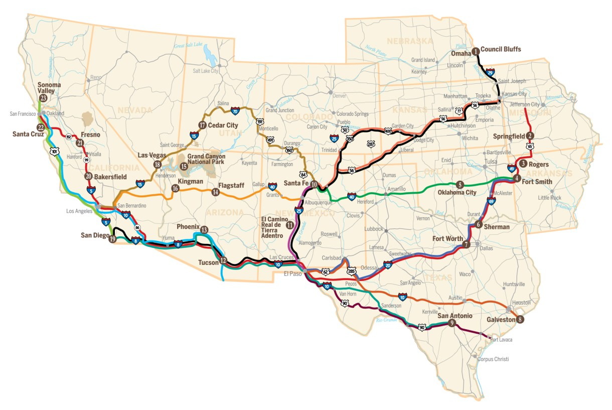 Southern Trails Map