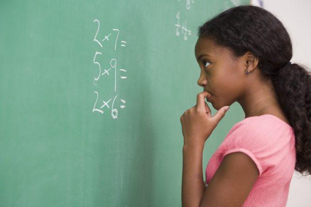 Girl problem solving