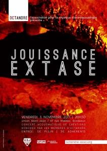Affiche pour l'événement Jouissance / Extase