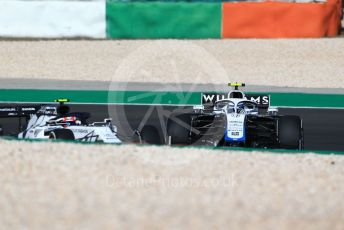 World © Octane Photographic Ltd. Formula 1 – F1 Portuguese GP, Practice 1. Williams Racing FW43 – Nicholas Latifi and Alfa Romeo Racing Orlen C39 – Antonio Giovinazzi. Autodromo do Algarve, Portimao, Portugal. Friday 23rd October 2020.