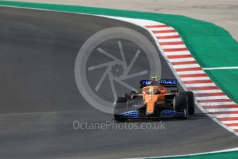 World © Octane Photographic Ltd. Formula 1 – F1 Portuguese GP, Practice 1. McLaren MCL35 – Lando Norris. Autodromo do Algarve, Portimao, Portugal. Friday 23rd October 2020.