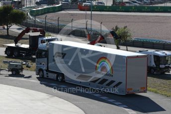 World © Octane Photographic Ltd. Formula 1 – F1 Portuguese GP, Practice 2. F1 transporter. Autodromo do Algarve, Portimao, Portugal. Friday 23rd October 2020.  #WeRaceAsOne