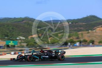 World © Octane Photographic Ltd. Formula 1 – F1 Portuguese GP, Practice 3. Mercedes AMG Petronas F1 W11 EQ Performance - Lewis Hamilton. Autodromo do Algarve, Portimao, Portugal. Saturday 24th October 2020.