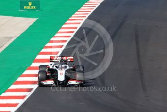 World © Octane Photographic Ltd. Formula 1 – F1 Portuguese GP, Qualifying. Haas F1 Team VF20 – Romain Grosjean. Autodromo do Algarve, Portimao, Portugal. Saturday 24th October 2020.