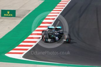 World © Octane Photographic Ltd. Formula 1 – F1 Portuguese GP, Qualifying. Mercedes AMG Petronas F1 W11 EQ Performance - Lewis Hamilton. Autodromo do Algarve, Portimao, Portugal. Saturday 24th October 2020.