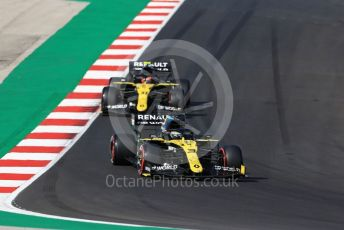 World © Octane Photographic Ltd. Formula 1 – F1 Portuguese GP, Qualifying. Renault Sport F1 Team RS20 – Daniel Ricciardo and Esteban Ocon. Autodromo do Algarve, Portimao, Portugal. Saturday 24th October 2020.
