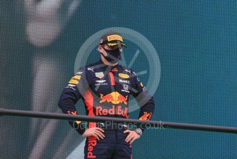 World © Octane Photographic Ltd. Formula 1 – F1 Portuguese GP, Podium. Aston Martin Red Bull Racing RB16 – Max Verstappen. Autodromo do Algarve, Portimao, Portugal. Sunday 25th October 2020.