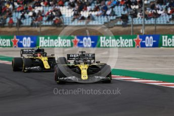 World © Octane Photographic Ltd. Formula 1 – F1 Portuguese GP, Race. Renault Sport F1 Team RS20 – Daniel Ricciardo and Esteban Ocon. Autodromo do Algarve, Portimao, Portugal. Sunday 25th October 2020.