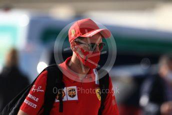 World © Octane Photographic Ltd. Formula 1 – F1 Portuguese GP, Paddock. Scuderia Ferrari SF1000 – Sebastian Vettel. Autodromo do Algarve, Portimao, Portugal. Friday 23rd October 2020.