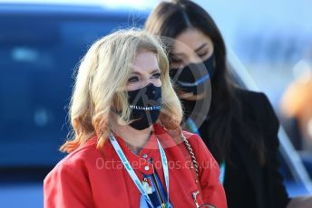 World © Octane Photographic Ltd. Formula 1 – F1 Portuguese GP, Paddock. Williams Racing – Nicholas Latifi's mother Marilena Michael Latifi. Autodromo do Algarve, Portimao, Portugal. Friday 23rd October 2020.
