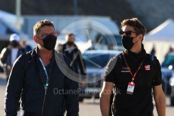 World © Octane Photographic Ltd. Formula 1 – F1 Portuguese GP, Paddock. Haas F1 Team VF20 – Romain Grosjean. Autodromo do Algarve, Portimao, Portugal. Saturday 24th October 2020.