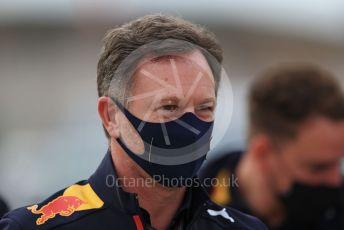 World © Octane Photographic Ltd. Formula 1 – F1 Portuguese GP. Christian Horner - Team Principal of Red Bull Racing. Autodromo do Algarve, Portimao, Portugal. Sunday 25th October 2020.