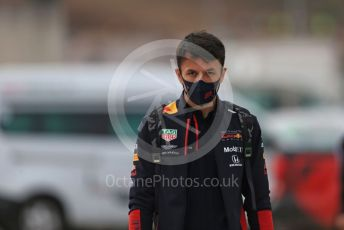 World © Octane Photographic Ltd. Formula 1 – F1 Portuguese GP, Paddock. Aston Martin Red Bull Racing RB16 – Alexander Albon. Autodromo do Algarve, Portimao, Portugal. Sunday 25th October 2020.