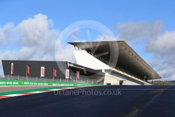 World © Octane Photographic Ltd. Formula 1 – F1 Portuguese GP. Main grandstand. Autodromo do Algarve, Portimao, Portugal. Thursday 22nd October 2020.