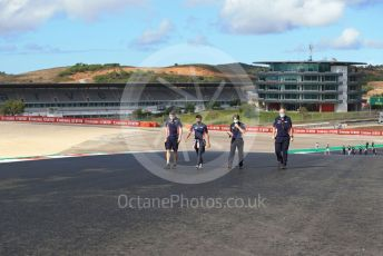 World © Octane Photographic Ltd. Formula 1 – F1 Portuguese GP, Track Walk. BWT Racing Point F1 Team RP20 - Sergio Perez. Autodromo do Algarve, Portimao, Portugal. Thursday 22nd October 2020.