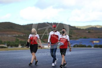 World © Octane Photographic Ltd. Formula 1 – F1 Portuguese GP, Track Walk. Alfa Romeo Racing Orlen C39 – Antonio Giovinazzi. Autodromo do Algarve, Portimao, Portugal. Thursday 22nd October 2020.