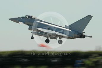 RAF Coningsby. Eurofighter Typhoon FGR4 ZK346 takes off. 2nd June 2021. World © Octane Photographic Ltd.