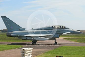 RAF Coningsby. Eurofighter Typhoon T3 ZK379 taxis back to the pad. 2nd June 2021. World © Octane Photographic