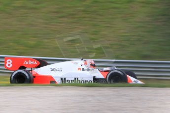 World © Octane Photographic Ltd. Sunday 21st June 2015. F1 Legends Parade – Red Bull Ring, Spielberg, Austria. 1984 Marlboro McLaren MP4-2 - Niki Lauda. Digital Ref. : 1321CB7D7467