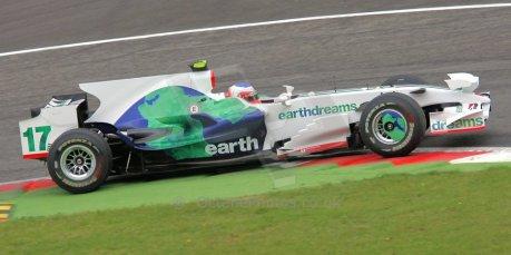 World © Octane Photographic Ltd. Italian GP, Monza, Formula 1 Practice 1. Friday 12th September 2008. Rubens Barrichello, Honda Racing F1 Team RA108. Digital Ref : 0842cb401d0040