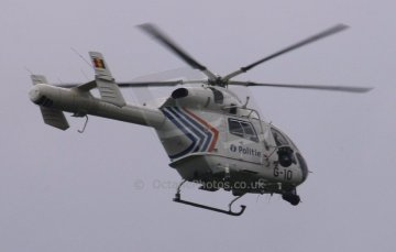 World © Octane Photographic. Belgian GP - Spa Francorchamps, Race, 30th August 2009. Police helicopter. Digital Ref :