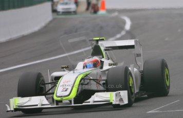 World © Octane Photographic. Belgian GP - Spa Francorchamps, Race, 30th August 2009. Brawn BGP001 - Rubens Barrichello. Digital Ref :