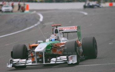 World © Octane Photographic. Belgian GP - Spa Francorchamps, Race, 30th August 2009. Adrian Sutil, Force India VJM02. Digital Ref :