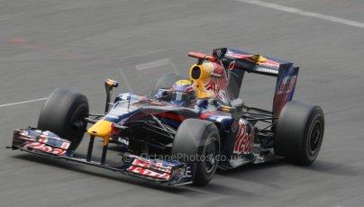 World © Octane Photographic. Belgian GP - Spa Francorchamps, Race, 30th August 2009. Mark Webber, Red Bull RB5. Digital Ref :