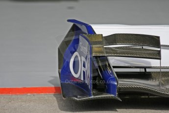World © Octane Photographic. Belgian GP - Spa Francorchamps, Pitlane, 27th August 2009. AT&T Williams FW31 front wing endplate detail. Digital Ref :