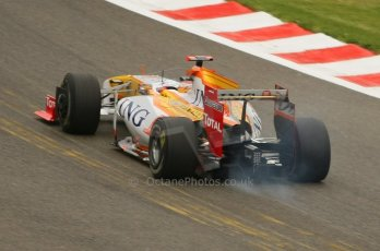 World © Octane Photographic. Belgian GP - Spa Francorchamps, Practice 1, 28th August 2009. Fernando Alonso, Renault R29. Digital Ref :