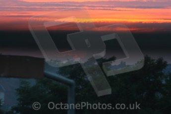 © Octane Photographic 2009. Le Mans 24hour 2009. Misty sunrise on The Sunday morning. Digital ref: LM09_008