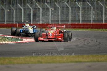 © Octane Photographic 2010. British F3 – Silverstone - Bridge circuit . James Cole, Menasheh Idafar - T-Sport. 15th August 2010. Digital Ref : 0051CB1D2758