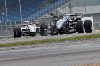 © Octane Photographic 2010. British F3 – Silverstone - Bridge circuit . Gabriel Dias - Hitech Racing. 14th August 2010. Digital Ref : 0051CB7D0437