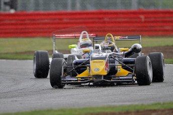 © Octane Photographic 2010. British F3 – Silverstone - Bridge circuit . Jean-Eric Vergne, James Calado - Carlin. 14th August 2010. Digital Ref : 0051CB7D0437