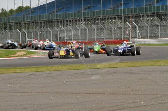 © Octane Photographic 2010. British F3 – Silverstone - Bridge circuit . Jean-Eric Vergne leads from lap 1. 15th August 2010. Digital Ref : 0051CB7D1853